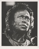 view Miles Davis in Switzerland. [Photoprint, black-and-white, July 1991.] digital asset number 1