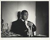 view Louis Armstrong -- Paris [backstage at Olympia Theatre,] 1960 [photoprint, black-and-white] digital asset number 1