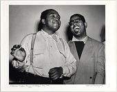 view Parker, Charlie and Dizzy Gillespie; Recording Studio, New York City, 1949 digital asset: Parker, Charlie and Dizzy Gillespie; Recording Studio, New York City, 1949