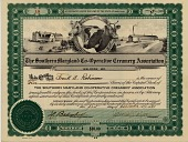 view [Stock Certificate for five shares of The Southern Maryland Co-Operative Creamery Association : stock certificate.] digital asset: [Stock Certificate for five shares of The Southern Maryland Co-Operative Creamery Association : stock certificate.]