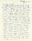 view [Adina Via to fiance Franklin Robinson, p. 1 : manuscript letter] digital asset: [Adina Via to fiance Franklin Robinson, p. 1 : manuscript letter, March 14, 1956.].