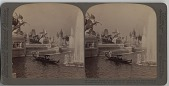 view Laughing waters of the cascades and fountains with Ferris Wheel [stereograph] digital asset: Laughing waters of the cascades and fountains with Ferris Wheel [stereograph], 1904.