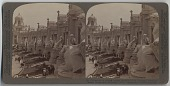 view Colonnade of colossal statues symbolic of Louisiana Purchase states [stereograph] digital asset: Colonnade of colossal statues symbolic of Louisiana Purchase states [stereograph], 1904.