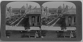 view U.S. Government Building--from Education building over sunken gardens [stereograph] digital asset: U.S. Government Building--from Education building over sunken gardens [stereograph], 1904.