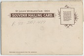 view Panoramic View Louisiana Purchase Exposition Souvenir Mailing Cards digital asset: Panoramic View Louisiana Purchase Exposition Souvenir Mailing Cards, 1904.