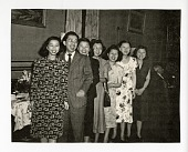 view [Lee children in 1948 at the Golden Age Club in New York. Photograph.] digital asset: [Lee children in 1948 at the Golden Age Club in New York. Photograph.]