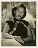 view [Portrait of Virginia Lee in a cheongsam dress. Photoprint.] digital asset: [Portrait of Virginia Lee in a cheongsam dress. Photoprint.]