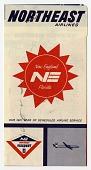 view Northeast Airlines [ticket jacket] digital asset: Northeast Airlines [ticket jacket, undated.]