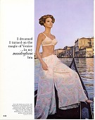 """view Maidenform Advertisement: """"I dreamed I turned on the magic of Venice in my maidenform bra."""" 1966. Italy; canal digital asset: Maidenform Advertisement: """"I dreamed I turned on the magic of Venice in my maidenform bra."""" 1966. Italy; canal."""