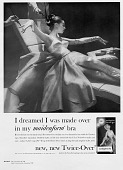 view I dreamed I was made over / in my maidenform bra [black-and-white advertisement,] 1958 digital asset: I dreamed I was made over / in my maidenform bra [black-and-white advertisement,] 1958.