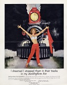 view I dreamed I stopped them in their tracks / in my maidenform [sic] bra [color advertisement] digital asset: I dreamed I stopped them in their tracks / in my maidenform [sic] bra [color advertisement].