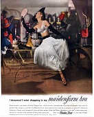 """view Maidenform ad """"I dreamed I went shopping ..."""" Photographic image; 1949 digital asset: I dreamed I went shopping in my maidenform [sic] bra [color advertisement]."""