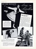 view New York Debutantes Live in Luxables. [Print advertising.] digital asset: New York Debutantes Live in Luxables. [Print advertising.] 1936