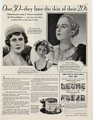 view Over 30--they have the skin of their 20s. [Print advertising.] digital asset: Over 30--they have the skin of their 20s. [Print advertising.]