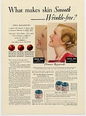 view What makes skin Smooth--Wrinkle-free? [Print advertising.] digital asset: What makes skin Smooth--Wrinkle-free? [Print advertising.]