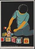 view El Reto [screen print poster] digital asset: El Reto [screen print poster].