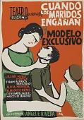 view Cuando los Maridos Enganan [screenprint poster] digital asset: Cuando los Maridos Enganan [screenprint poster].