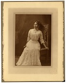 view [Portrait of a young African American woman in a white dress : Black-and-white photoprint.] digital asset number 1