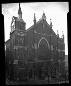 view [Front exterior of a church] [cellulose acetate photonegative] digital asset number 1