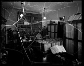 view [Howard University Medical School Library] [cellulose acetate photonegative] digital asset: Medical library [1942] [cellulose acetate photonegative].
