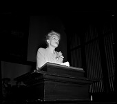 view [Woman speaking at a lectern] [cellulose acetate photonegative] digital asset number 1