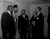 view [Martin Luther King, Jr. with a group of other men : photonegative.] digital asset: [Martin Luther King, Jr. with a group of other men : photonegative.]