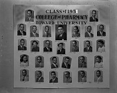 view Class of 1951 / College of Pharmacy / Howard University [collage of photoprints] [cellulose acetate photonegative] digital asset: Class of 1951 / College of Pharmacy / Howard University [collage of photoprints] [cellulose acetate photonegative].