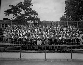 view Dunbar High School June graduating class 1954 [cellulose acetate photonegative] digital asset: Dunbar High School June graduating class 1954 [cellulose acetate photonegative]