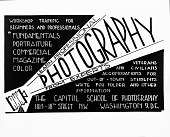 view Capitol School of Photography advertisement [cellulose acetate photonegative] digital asset: Capitol School of Photography advertisement [cellulose acetate photonegative].