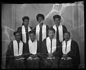 view Young Gospel Singers, March 13, 1949 [cellulose acetate photonegative] digital asset: Young Gospel Singers, March 13, 1949 [cellulose acetate photonegative].