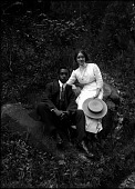 view Addison and Mamie Scurlock [glass plate photonegative] digital asset: Addison and Mamie Scurlock [glass plate photonegative].