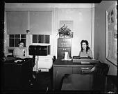 view Maj[or] Campbell Johnson's Office, 1942 [cellulose acetate photonegative] digital asset: Maj[or] Campbell Johnson's Office, 1942 [cellulose acetate photonegative].