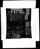 view Plymouth Church Men's Day, Feb[ruary] 1949 [cellulose acetate photonegative] digital asset: Plymouth Church Men's Day, Feb[ruary] 1949 [cellulose acetate photonegative].