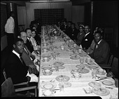 view Rev[erend] Martin Luther King at H[oward] U[niversity] (Chapel & Luncheon), Nov[ember] 1957. [cellulose acetate photonegative] digital asset: Rev[erend] Martin Luther King at H[oward] U[niversity] (Chapel & Luncheon), Nov[ember] 1957. [cellulose acetate photonegative].