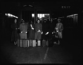 view Terrell Jr. High students at Union [station], Mar[ch] 1954 [cellulose acetate photonegative] digital asset: Terrell Jr. High students at Union [station], Mar[ch] 1954 [cellulose acetate photonegative].