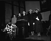 view Rev[erend] Faulkner at H[oward] U[niversity] Chapel, January 1950 [cellulose acetate photonegative] digital asset: Rev[erend] Faulkner at H[oward] U[niversity] Chapel, January 1950 [cellulose acetate photonegative].