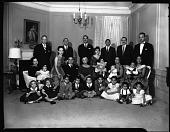 view Dr. Mordecai U. Johnson (family group), Nov[ember] 1958 [cellulose acetate photonegative] digital asset: Dr. Mordecai U. Johnson (family group), Nov[ember] 1958 [cellulose acetate photonegative].
