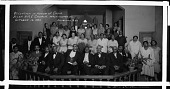 view Reception in honor of Choir Allen A.M.E. Church, Washington, D.C. October 16 1930 [cellulose acetate photonegative, banquet camera format] digital asset: Reception in honor of Choir Allen A.M.E. Church, Washington, D.C. October 16 1930 [cellulose acetate photonegative, banquet camera format].