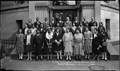 view Class of 1930 -:- [sic] Shaw Junior High Night School [cellulose acetate photonegative, banquet camera format] digital asset: Class of 1930 -:- [sic] Shaw Junior High Night School [cellulose acetate photonegative, banquet camera format].