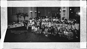 view Marjorie's Tenth Birthday Anniversary Party, ca. 1930 [cellulose acetate photonegative, banquet camera format] digital asset: Marjorie's Tenth Birthday Anniversary Party, ca. 1930 [cellulose acetate photonegative, banquet camera format].