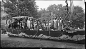 view [Parade float of Cleopatra's Barge, September 1, 1930 : cellulose acetate photonegative, banquet camera format] digital asset: [Parade float of Cleopatra's Barge, September 1, 1930 : cellulose acetate photonegative, banquet camera format].