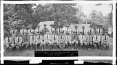 view Reserve Officers of the 428th and 429th Infantry, Fort Washington, MD. July 1 - 14 1934 [cellulose acetate photonegative, banquet camera format] digital asset: Reserve Officers of the 428th and 429th Infantry, Fort Washington, MD. July 1 - 14 1934 [cellulose acetate photonegative, banquet camera format].