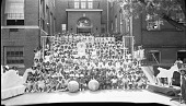view [May Day celebrations at Garrison School, 1933 : cellulose acetate photonegative, banquet camera format] digital asset: [May Day celebrations at Garrison School, 1933 : cellulose acetate photonegative, banquet camera format].