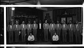 "view ""Club Prudhom"" waiters [ca. 1930-1940] [cellulose acetate photonegative, banquet camera format] digital asset: ""Club Prudhom"" waiters [ca. 1930-1940] [cellulose acetate photonegative, banquet camera format]."