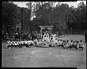 view Mrs. Dickenson Logan Playground May Day 1941 [cellulose acetate photonegative] digital asset: Mrs. Dickenson Logan Playground May Day 1941 [cellulose acetate photonegative].