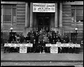 view Y.M.C.A. Campaign Group 1943 [large group in front of building : cellulose acetate photonegative] digital asset: Y.M.C.A. Campaign Group 1943 [large group in front of building : cellulose acetate photonegative].