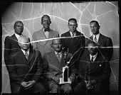 view Y.M.C.A. Campaign Committee 1943 [group of seven men : cellulose acetate photonegative] digital asset: Y.M.C.A. Campaign Committee 1943 [group of seven men : cellulose acetate photonegative].