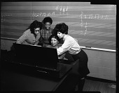 view Miss Coleman instructing in music at H[oward] U[niversity], Jan[uary] 1963 [cellulose acetate photonegative] digital asset: Miss Coleman instructing in music at H[oward] U[niversity], Jan[uary] 1963 [cellulose acetate photonegative].