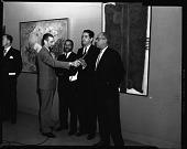 view Chilean art exhibit at H.U. [Howard University], Nov[ember] 1963 [cellulose acetate photonegative] digital asset: Chilean art exhibit at H.U. [Howard University], Nov[ember] 1963 [cellulose acetate photonegative].