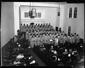 view Sanctuary Choristers, Feb[ruary] 1964 [cellulose acetate photonegative] digital asset: Sanctuary Choristers, Feb[ruary] 1964 [cellulose acetate photonegative].